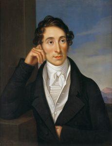 Carl Maria von Weber, Porträt von Caroline Bardua
