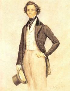 Felix Mendelssohn Bartholdy - Aquarell von James Warren Childe 1830