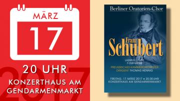Franz Schubert – Lazarus und Messe F-Dur