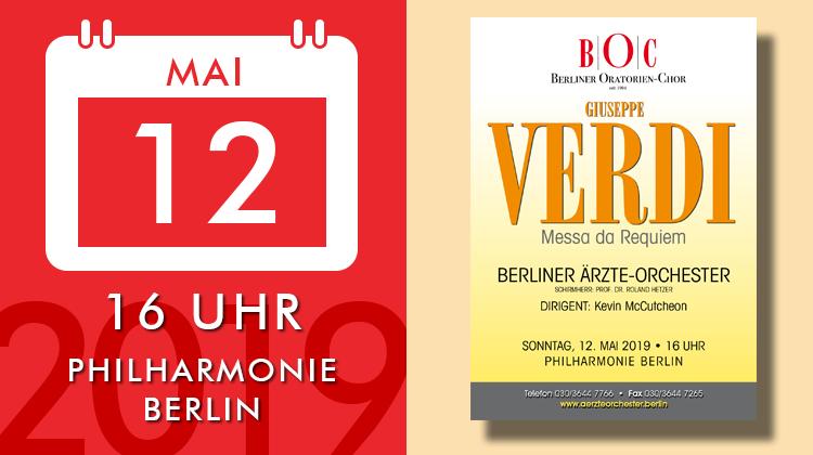 Giuseppe Verdi - Messa da Requiem, Konzert am 2019-05-12