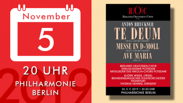 Anton Bruckner – Te Deum, Mass in D minor