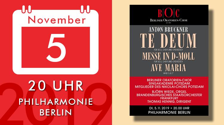 Anton Bruckner - Te-deum, Messe d-moll