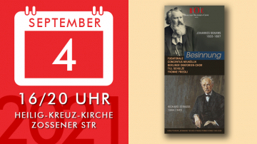 Reflection: chants and choral works by J. Brahms and R. Strauss
