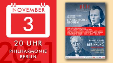 """Johannes Brahms: """"A German Requiem"""" / Richard Strauss,Thomas Hennig: """"Reflection"""""""
