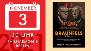 """Walter Braunfels – """"Te Deum"""" / Richard Strauss – """"Taillefer"""" & """"Reflection"""""""